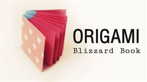 origami book blizzard style tutorial diy