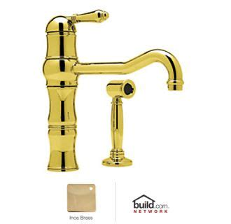 shop rohl country kitchen inca brass 2 handle deck mount faucet com a3479lmwsib 2 in inca brass by rohl