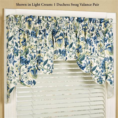 Regency Floral Duchess Swag Valance Pair by Waverly