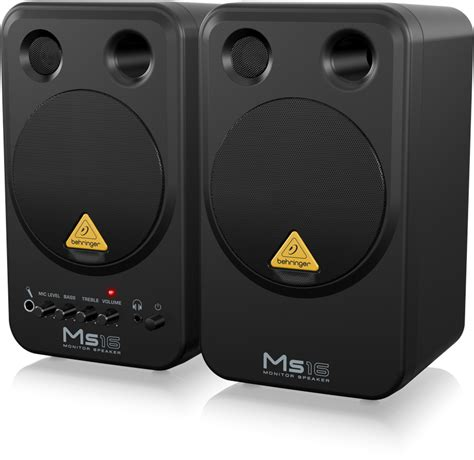Speaker Monitor Behringer Ms16 16 Watt ms16 multimedia speakers loudspeaker systems
