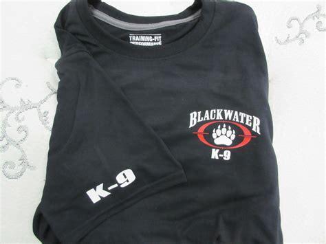 9 T Shirt blackwater k9 shirt blk navy white grey xe academi k 9 security ebay