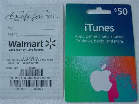 Gift Card Receipt - 50 itunes gift card with gift receipt new unused free shipping http
