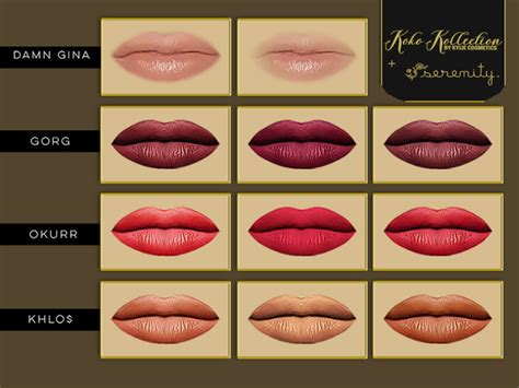 Lipstik Koko Collection koko collection lipsticks by serenity cc at tsr 187 sims 4