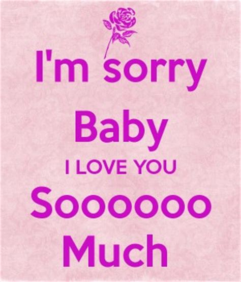baby i you im sorry baby quotes quotesgram