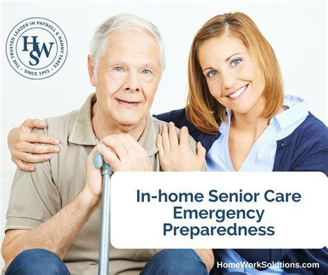 in home senior care emergency preparedness