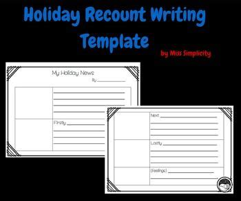 postcard template year 2 freebie recount writing template for grade 1 and 2