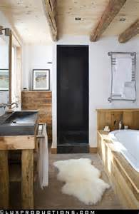 Rustic Bathrooms Designs rustic modern bathroom designs modern chalet via camille hermand