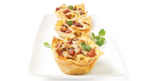 mini lasagnes sur le pouce