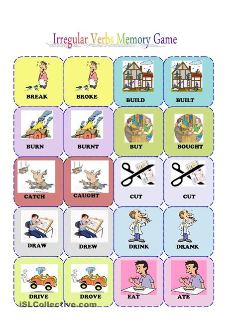 printable card games 72 best past simple pr perfect images on pinterest