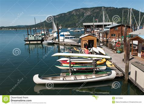 free boats on vancouver island boats in the harbour on vancouver island stock images