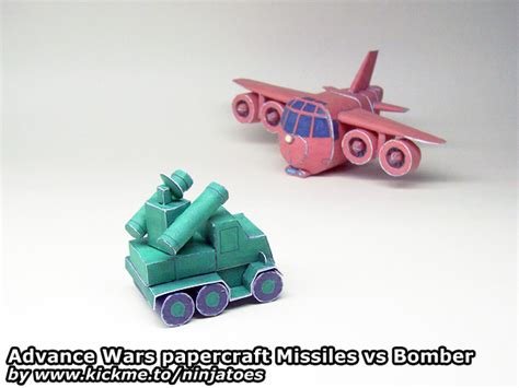 Advance Wars Papercraft - papercraft advance wars ge missiles vs os bomber by