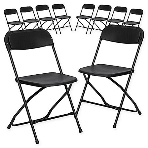 folding chair set of 10 buy flash furniture plastic folding chairs in black set