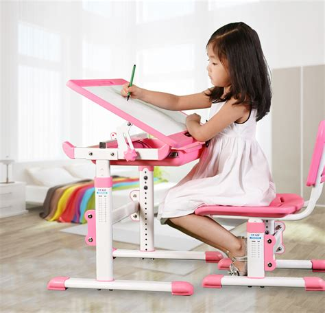 ergonomic adjustable kids furniture study table and chairs