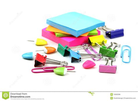 colorful office school supplies royalty free stock image office supplies royalty free stock image image 18300286
