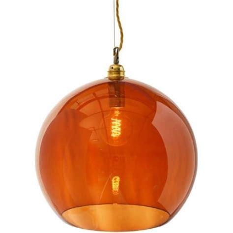Coloured Glass Ceiling Lights Transparent Orange Glass Ceiling Pendant Light For Tables