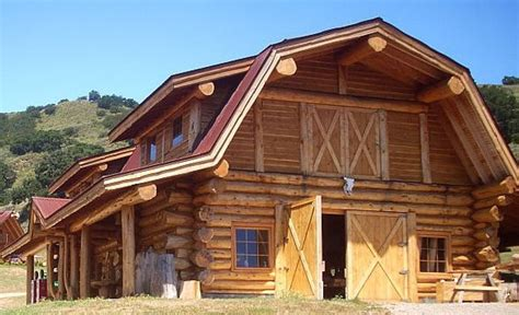 pioneer log homes  bc ridgecrest barn  sf