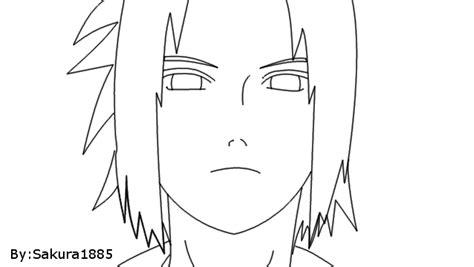 imagenes de sasuke y sakura para dibujar a lapiz sasuke lineart by sakura1885 on deviantart