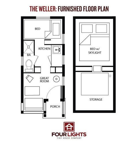tiny cabin floor plans tiny house on wheels the weller floor plan 115 sq ft