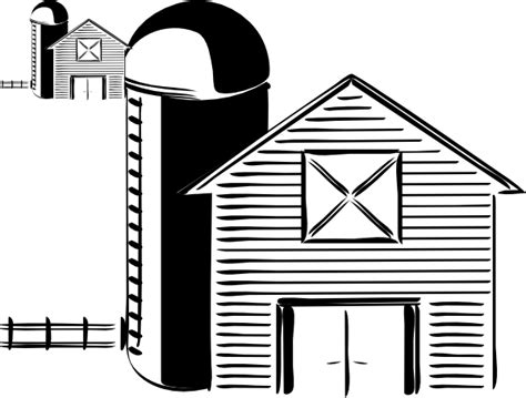 Barn And Silo Clipart barn and silo clip at clker vector clip royalty free domain