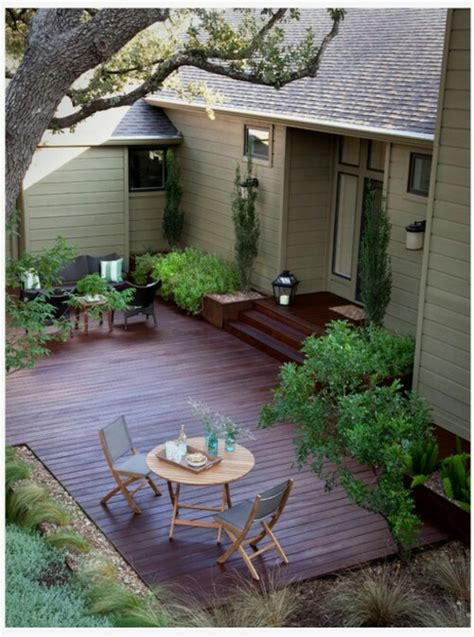 outdoor patio ideas for small spaces fres hoom ground level wooden patio deck projects outdoor