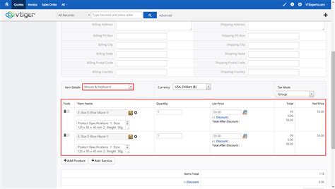 invoice layout vtigercrm download invoice template vtiger rabitah net