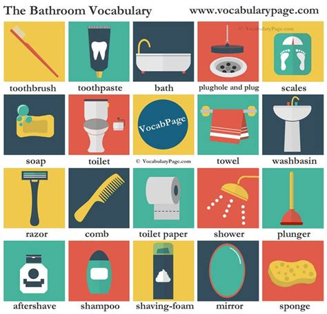 english word for bathroom the bathroom vocabulary english language esl efl