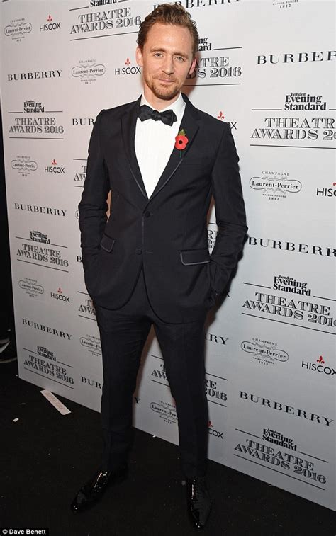 Tom Hit The Carpet by Tom Hiddleston Arrives At Evening Standard Theatre Awards