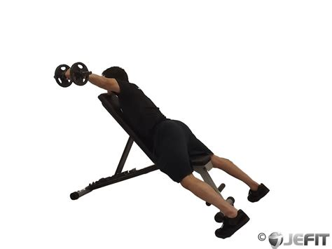 incline bench exercise dumbbell alternate reverse fly on incline bench exercise