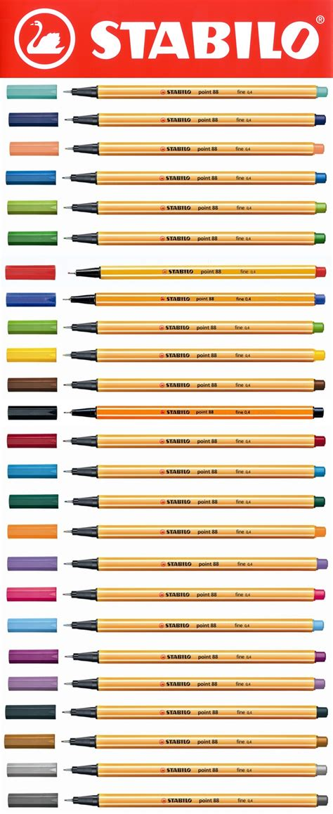 Stabilo Point 88 Ochre by Stabilo Point 88 Fineliner Pens 25 Colours Available
