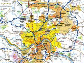 us map cincinnati ohio highways and roads map of cincinnatifree maps of us