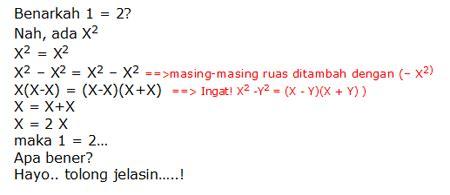 soal matematika mana yang katanya aneh sang vectoria jenaka