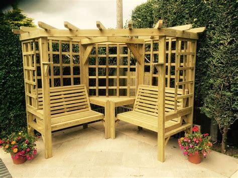 wooden corner bench seating outdoor corner arbour wooden corner seat garden arbour seat