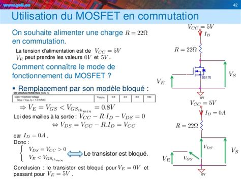 transistor mosfet utilisation transistors
