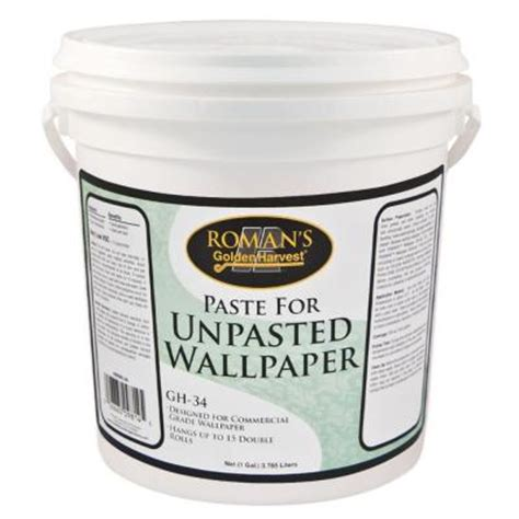 golden harvest gh 34 1 gal paste for unpasted wallpaper