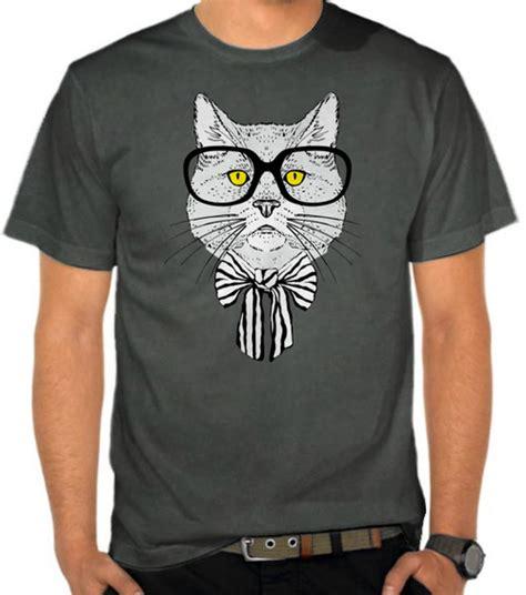 Kaos Distro Lokal Premium Dst794 jual kaos kucing berkacamata kucing satubaju