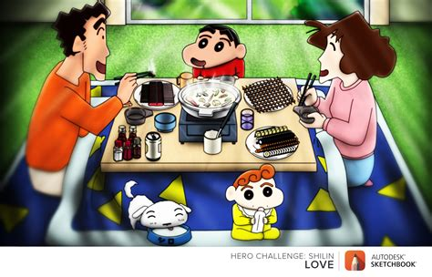 Crayon Shin Chan Family digital crayon shin chan family contest 2015 by