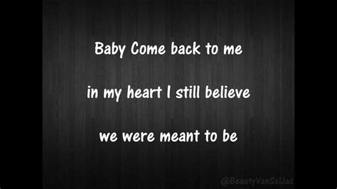 Come With Me Welcome Back by Hudgens Come Back To Me Hq Lyrics