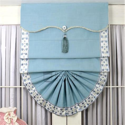fan shaped window shades affordable fan shaped blue shades for doors with valance
