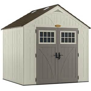 suncast tremont 174 8 ft x 7 ft resin storage shed lowe s