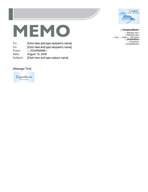 Memo Template Microsoft Word Memo Template Word E Commercewordpress