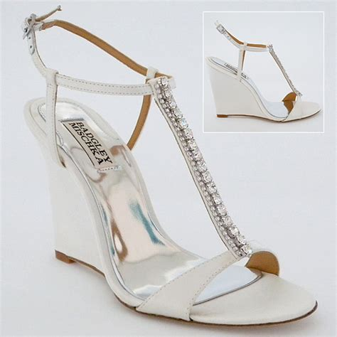 White Wedge Bridal Shoes by Feeling Comfortable With Your Wedge Wedding Shoes