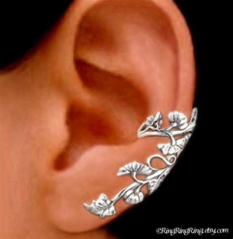 925 nouveau sterling silver ear cuff earring