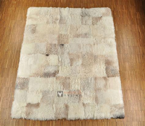lammfell teppich lammfell teppich patchwork beige grau 160 x 200 cm