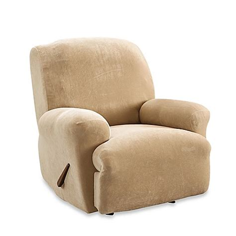 sure fit recliner slipcovers sure fit 174 stretch sterling recliner slipcover in cream