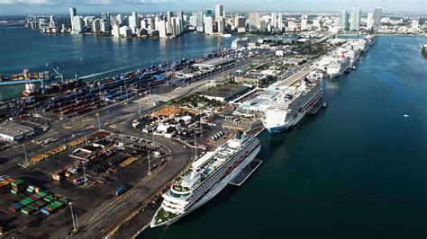 miami port royal caribbean s new miami cruise terminal to be work of