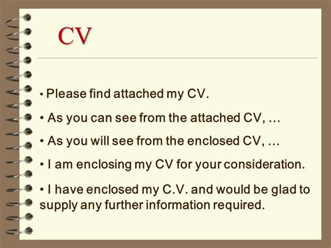 I Attached My Cover Letter And Cv Find Attached My Cv And Cover Letter In Application For
