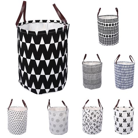 bajer design fold laundry basket cute geometric print laundry basket dirty clothes storage