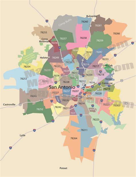 san antonio texas zip code map san antonio zip code map zipcode map of san antonio texas
