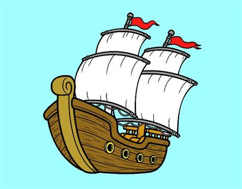 barco antiguo dibujo dibujo de barco de vela pintado por elnida en dibujos net