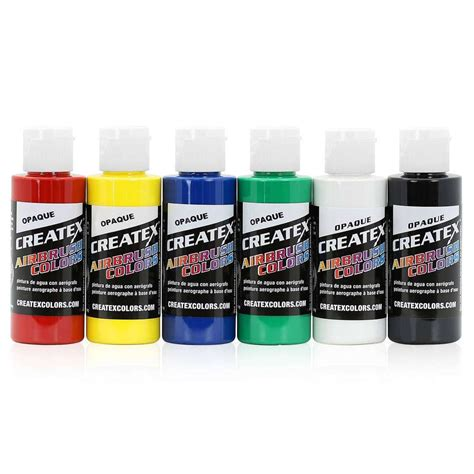 createx colors airbrush paint primary opaque set 5803 00 6 colors 2 oz ebay